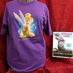XL Disney Store Purple Tinkerbell Tee
